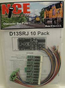Nce Ho Scale D13srj Dcc Decoders 10 Pack New 524