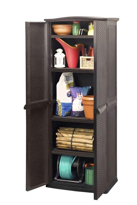 keter garage storage units keter midi shed rattan outdoor garden tool brown storage unit garage