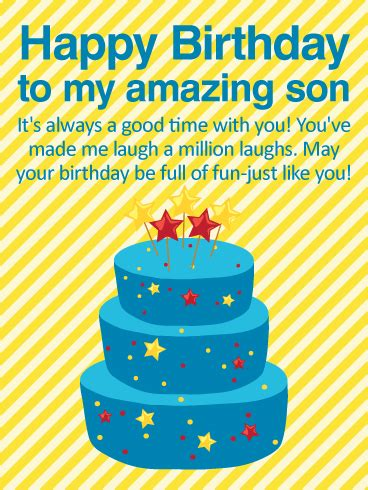 good time   happy birthday wishes card