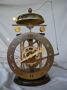 Wooden, Gear, Clock, Plans, From, Hawaii, By, Clayton, Boyer