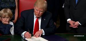 President Trump Signs First Executive Order At Exact ...