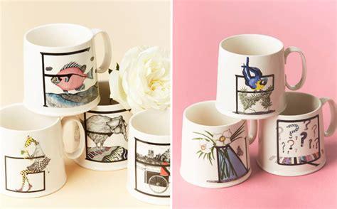 anthropologie animal alphabet monogram mugs