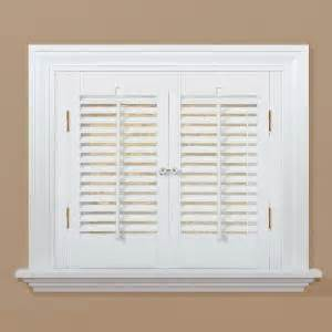 home depot wood shutters interior homebasics traditional faux wood white interior shutter price varies by size qsta2320 the