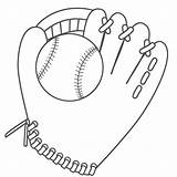 Baseball Glove Coloring Ball Drawing Printable Helmet Sports Mitt Cartoon Clipart Cliparts Pages Diamond Bat Gloves Library Clip Attribution Forget sketch template