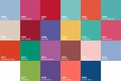 Pantone Colors Advertising Marketing Agency Decade Through
