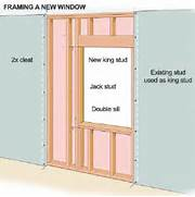 Installing New Exterior Door In Existing Frame of Framing The Window Opening How To Install New Windows In Your House DIY Ad