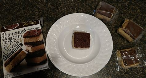 There are many additional coffee ice cream products on the market, however, the manufacturers do not readily provide the caffeine content. How Do Trader Joe's Brownie Crisp Coffee Ice Cream Sandwiches Taste? | My Name is Yona Williams ...