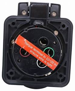 Furrion 50 Amp Rv Power Inlet - 125v  250v - Led