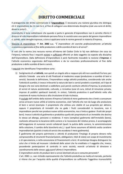 diritto commerciale dispensa nozioni base appunti di diritto commerciale