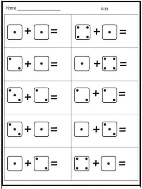domino worksheet craft kindergarten  images