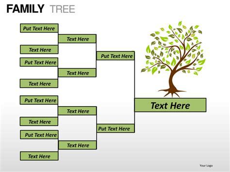 Powerpoint Genealogy Template by Family Tree Powerpoint Presentation Templates