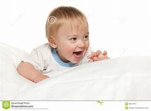 Laughing Baby Boy On The White Stock Photo - Image: 30014310
