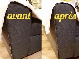 diy reparation facile d39un accoudoir de canape en tissu With kit reparation canape simili cuir