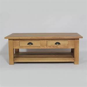 Table Basse Pin Massif : meuble table basse 2 tiroirs en pin massif cir achat ~ Teatrodelosmanantiales.com Idées de Décoration