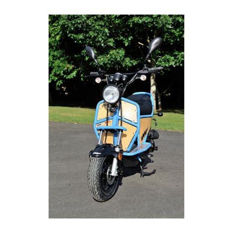 4t motocross gear scooter imf ptio 4t blue wood 50cc frčo moto trgovina
