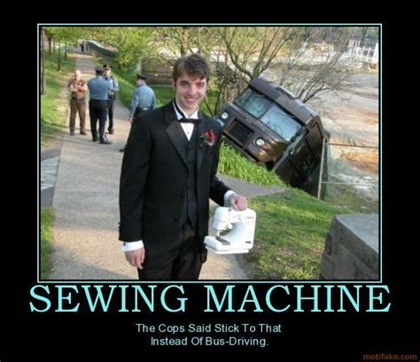 image   guy holding  sewing machine  front   ups truck accident