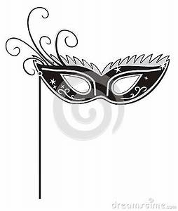 Masquerade Ball Black And White Clipart - Clipart Suggest