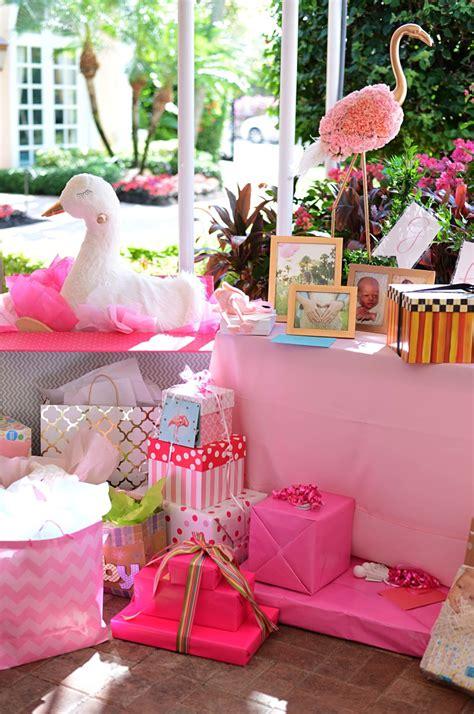 beths flamingo inspired baby shower palm beach