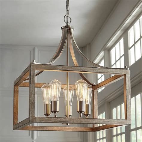 brushed nickel  light pendant ceiling fixture dining room