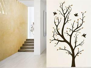 Baum An Wand Malen : wandtattoo zweifarbiger baum wandtattoo de ~ Frokenaadalensverden.com Haus und Dekorationen
