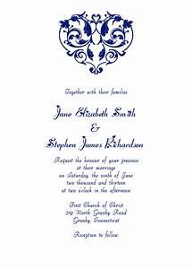 heart filigree invitation navy wedding invitation With free printable heart wedding invitations