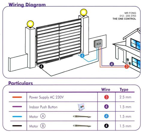 wiring diagram energy autogate auto gate system supplier supply supplies installation the