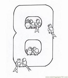 Number Eight 8 Coloring Page Coloring Page - Free Numbers ...
