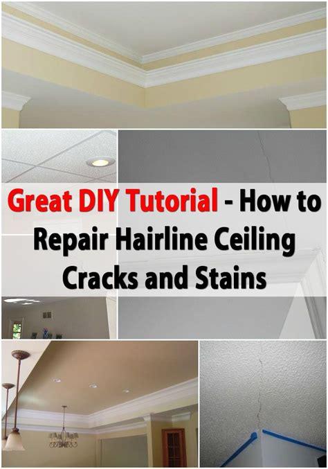 great diy tutorial  repairing hairline ceiling cracks