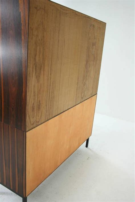 mid century modern rosewood office cabinet bookcase with