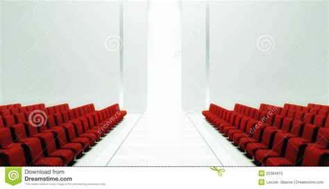 3d Empty Fashion Runway Royalty Free Stock Photo Image
