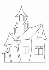 Castle Buildings Architecture Coloring Pages Printable Drawing Drawings Kb sketch template