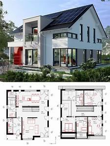 Modernes Haus Grundriss : modernes einfamilienhaus neubau mit satteldach architektur querhaus kamin haus bauen ~ Orissabook.com Haus und Dekorationen