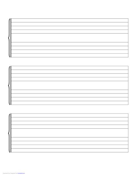 Use this blank staff paper template for your music instruction or composition. Music Staff Paper-Large Free Download