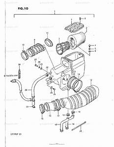 Suzuki Atv 1989 Oem Parts Diagram For Air Cleaner