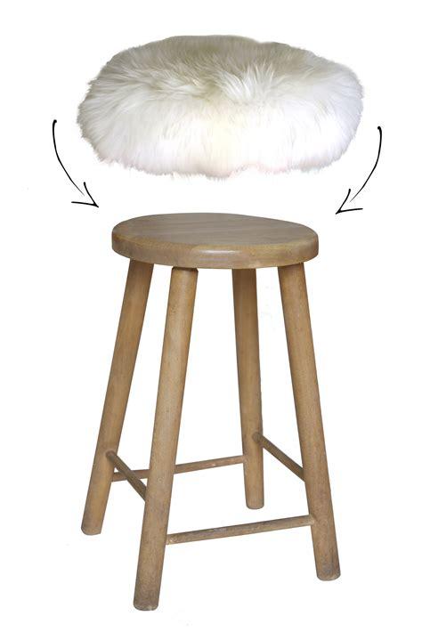 housse de tabouret top moumoute peau de mouton v 233 ritable poils courts blanc fab design