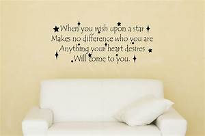 when you wish upon a star disney decal disney quote decal With inspirational disney sayings wall decals