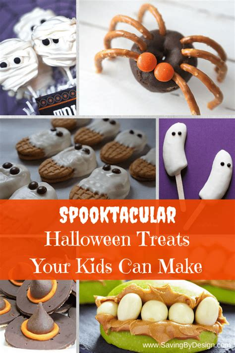treats to make 6 spooktacular halloween treats your kids can make saving by design