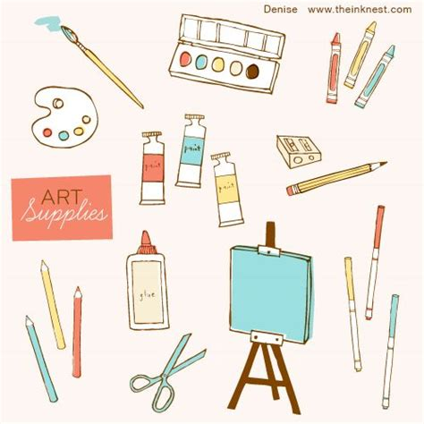 clip art art supplies  illustrator nisee