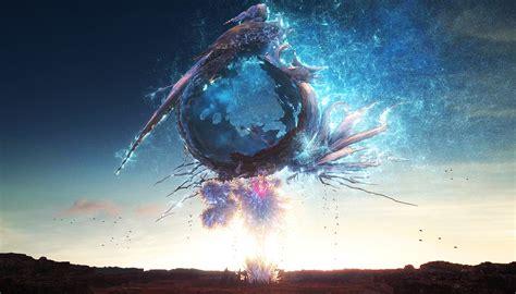 wallpaper video games reflection earth final fantasy