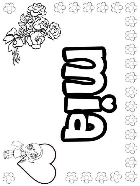 Coloring Names names coloring pages free printable names