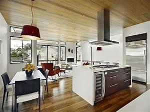 Lampe über Kochinsel : wohnzimmer mit k che 34 moderne designs ~ Buech-reservation.com Haus und Dekorationen