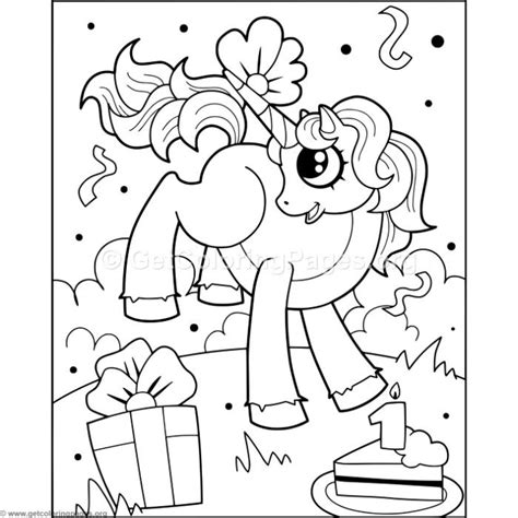 instant downloads unicorn  cake coloring pages