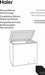 Haier Hf50cm23nw User Manual Chest Freezer Manuals And