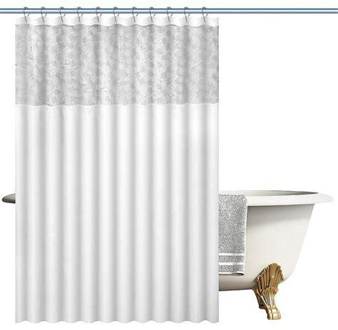 dozzz faux silk decorative woven fabric shower curtain