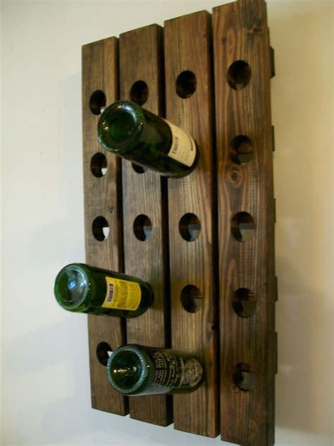 riddling wine rack wood handmade rustic french country wall hanging ebay