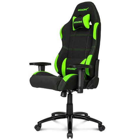 siege de gaming akracing gaming chair vert fauteuil gamer akracing sur