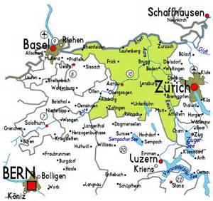 map of map of aargau in switzerland