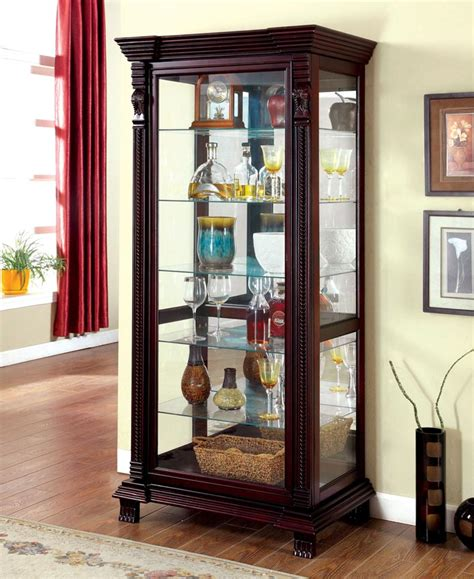 dark walnut curio finish