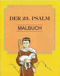 German Der 23 Psalm Malbuch The 23rd Psalm