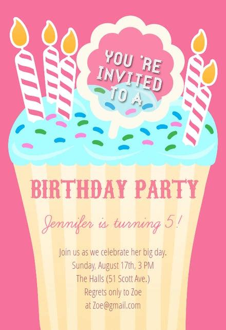 special day birthday invitation template